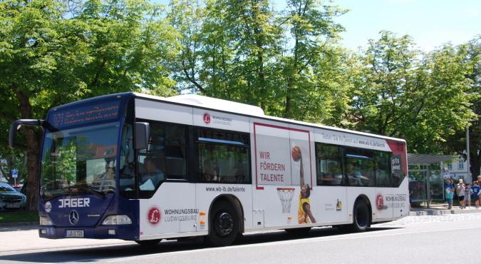 KWS Buswerbung Ganzgestaltung Wohnungsbau Ludwigsburg