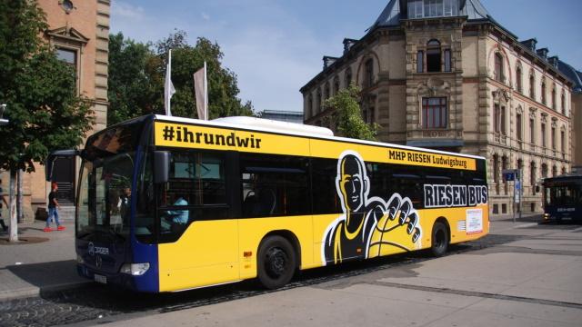 KWS Buswerbung Ganzgestaltung MHP Riesen Ludwigsburg