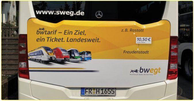 KWS Buswerbung Traffic Board Voting Gewinner August 2020 bwegt Freiburg SWEG