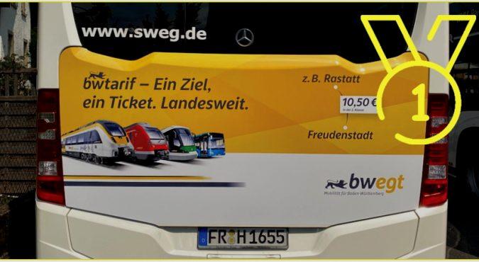 KWS Buswerbung Traffic Board Voting Gewinner August 2020 bwegt Freiburg SWEG
