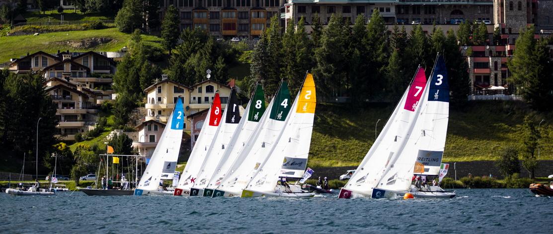 KWS Württembergischer Yacht Club Boot FlotteSchräg im Wind liegend