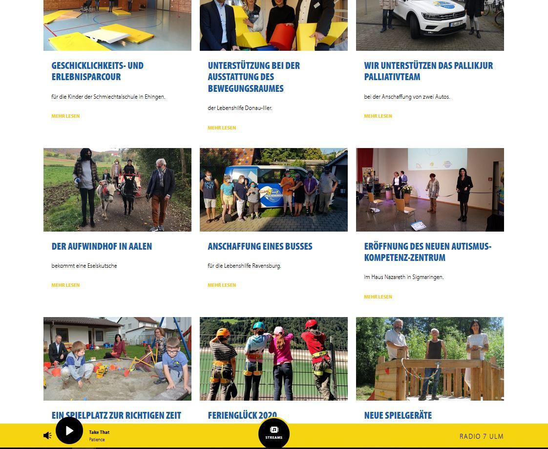 Screenshot Website Projekte
